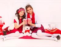 Новогодняя фотосессия участниц 1 сезона Ксюши Асессоровой и Ани Расходчиковой